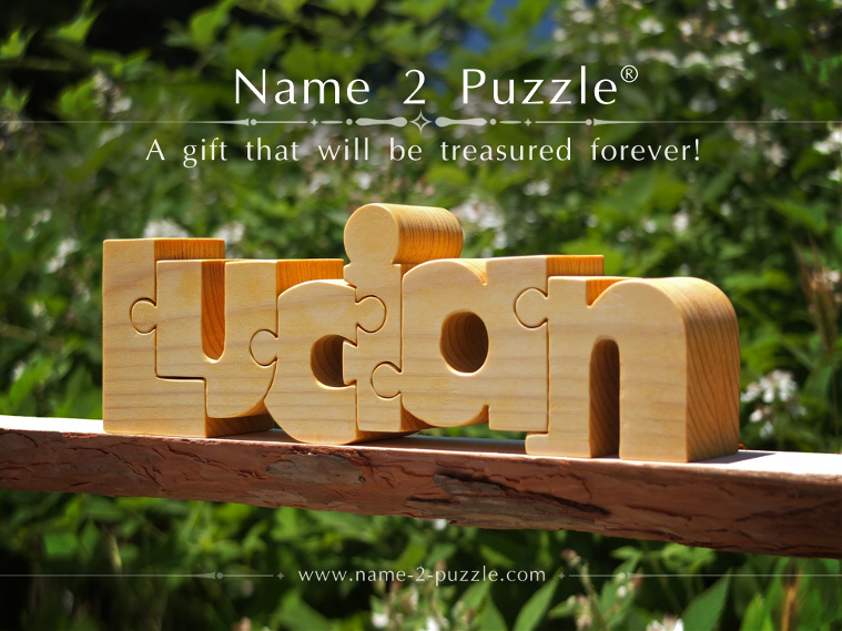 Personalized name puzzles baby gift idea personalized newborn gift negle Image collections